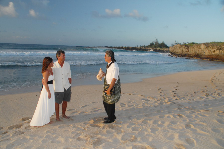 IRONWOOD BEACH Kapalua West Maui SIMPLE MAUI WEDDING Wedding Minister